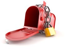Open mailbox with chain Stock Photos