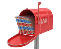 Open mailbox (clipping path included) Stock Photo