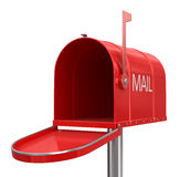 Open mailbox (clipping path included) Royalty Free Stock Photos