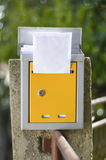 Open mailbox with a letter shot with low depth of field Royalty Free Stock Image