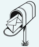 Open Mailbox with letters Stock Photo