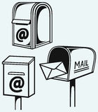 Open Mailbox with letters Royalty Free Stock Photography