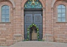 Main door. Open main door in a building Stock Photography