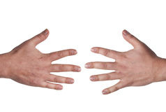 Open male hands Stock Photography