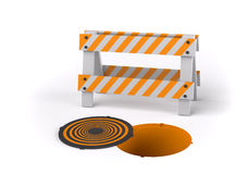 Open Manhole Royalty Free Stock Photography