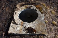 Open manhole without cover Royalty Free Stock Photos