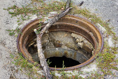 Open manhole Royalty Free Stock Images