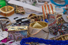 The open market of accessories Royalty Free Stock Photography