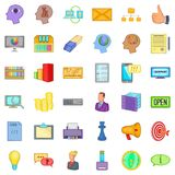 Open market icons set, cartoon style Royalty Free Stock Images