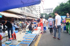 Open market, people in the purchase of goods Royalty Free Stock Photography