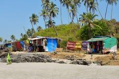 Open markt op strand Stock Foto