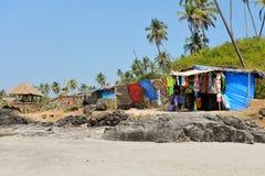 Open markt op strand Royalty-vrije Stock Afbeeldingen