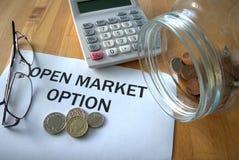 Open marktoptie royalty-vrije stock afbeelding
