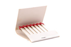Open matchbook. Photo of Open matchbook on white background Stock Images
