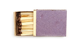 Open matchbox Stock Photo