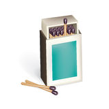 Open matchbox with matches  Royalty Free Stock Photo
