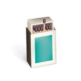 Open matchbox with matches  Royalty Free Stock Photos