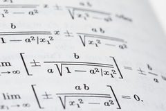 Open math book Stock Photography