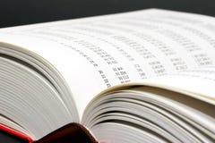 Open mathboek stock afbeeldingen