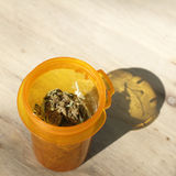 Open Medical Marijuana Bottle Royalty Free Stock Photography