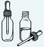 Open medicine bottle with a dropper Royalty Free Stock Photo