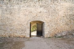 Open medieval castle gate Royalty Free Stock Photos
