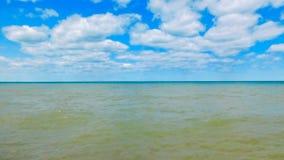 Open Meer Michigan op Sunny Day stock afbeelding
