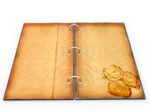 Open the menu - diary made of leather �1 Stock Photos