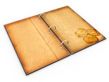 Open the menu - diary made of leather �2 Stock Images