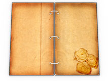 Open the menu - diary made of leather №4 Stock Photo