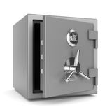 Open metal bank safe Royalty Free Stock Photography
