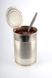 The open metal can Royalty Free Stock Image