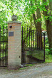 Open Metal gate Royalty Free Stock Images