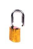 Open metal lock Stock Images