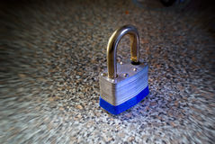 Open metal padlock Stock Image