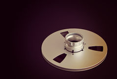 Open Metal Reels With Tape For Professional Sound Recording Stock Photos