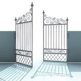 Open metal steel baroque fence Stock Photography