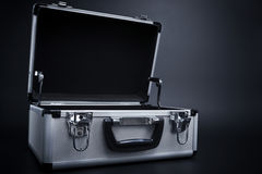 An Open Metallic Briefcase Stock Photos