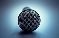 Open mic. On air conceptual close up shot Royalty Free Stock Image