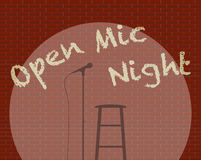 Open Mic Night Royalty Free Stock Photo