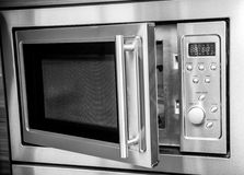 Open microwave stock image