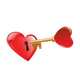 Open mijn hart Stock Fotografie