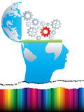 Open Mind With Gears Royalty Free Stock Images