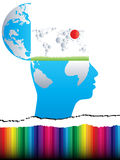 Open Mind With World Map Royalty Free Stock Photography
