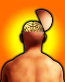 Open Minded Head. A conceptual image of an open headed man Stock Images