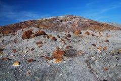 Open mine pit. Open pit mine mountain rocks Royalty Free Stock Photo