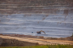 Open mine pit Stock Image