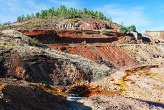 Open mine pit - Riotinto. Open mine pit, - Riotinto, Andalusia, Spain Stock Images