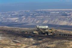 Open mining of coal by open method Stock Image