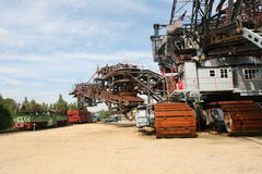 Open mining excavator. For brown coal, Saxonia, Germany stock photos
